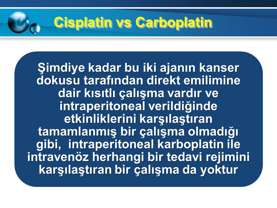 Cisplatin vs Carboplatin