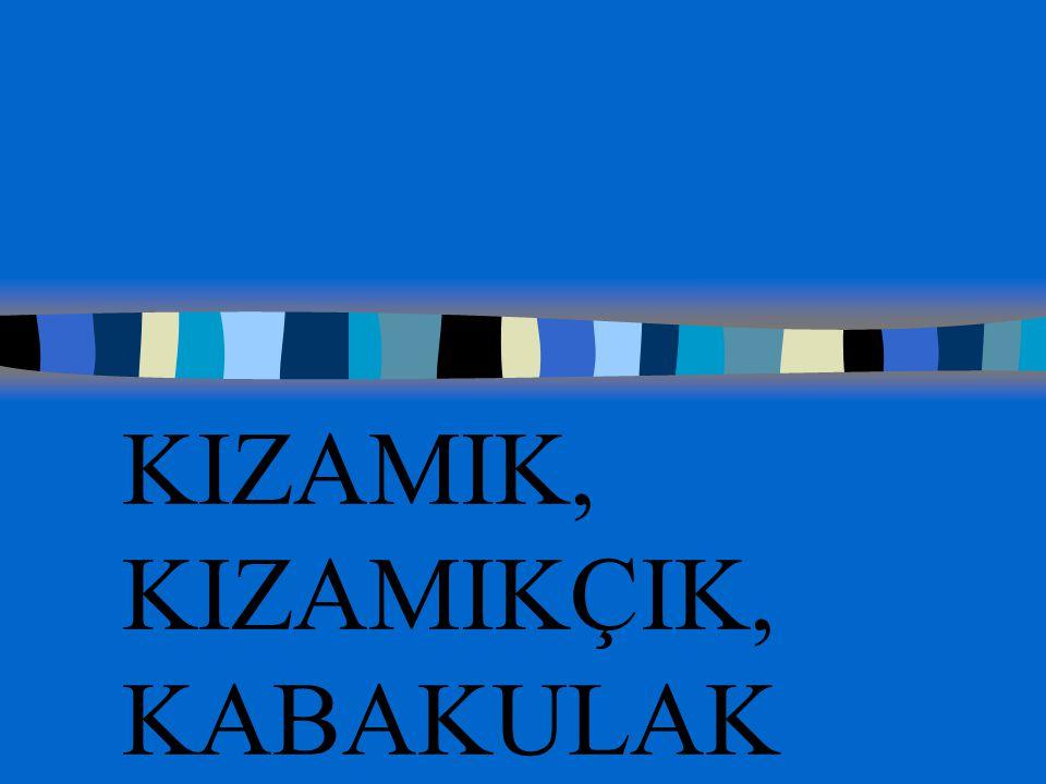 KIZAMIK, KIZAMIKÇIK, KABAKULAK