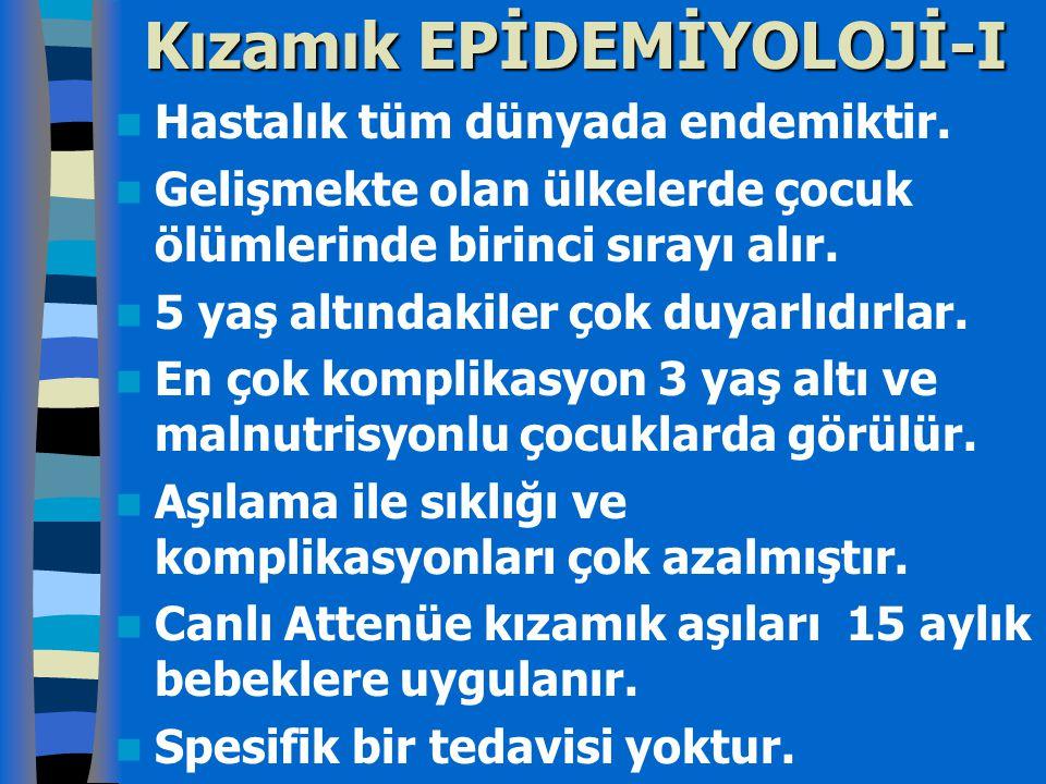 Kızamık EPİDEMİYOLOJİ-I