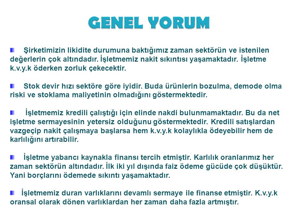 GENEL YORUM