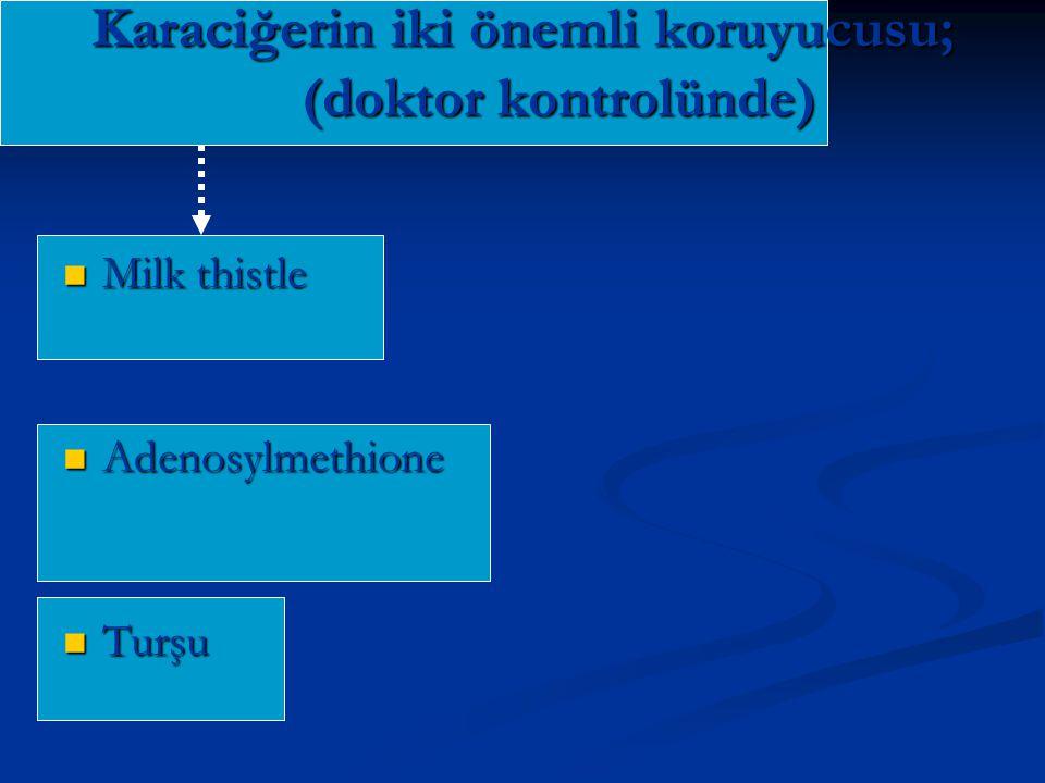Karaciğerin iki önemli koruyucusu; (doktor kontrolünde)