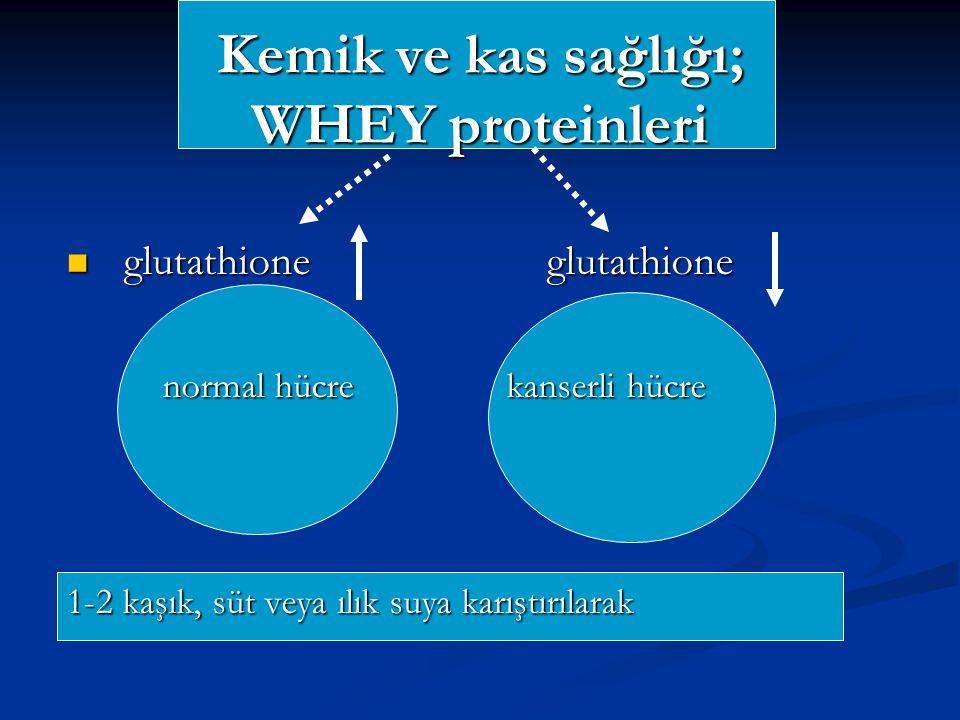 Kemik ve kas sağlığı; WHEY proteinleri