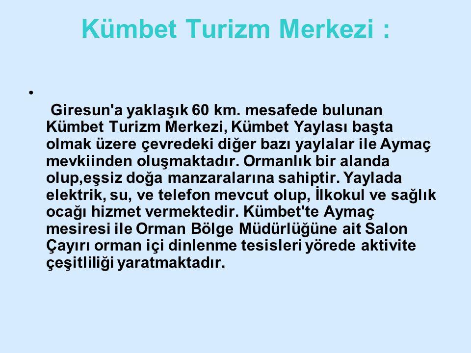 Kümbet Turizm Merkezi :