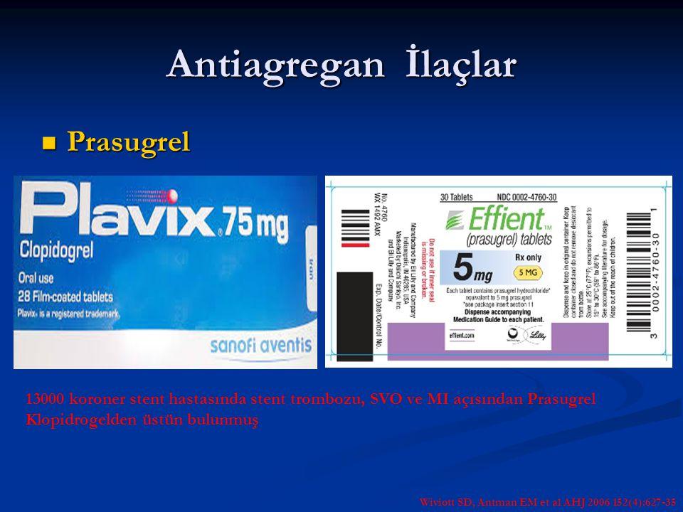 Antiagregan İlaçlar Prasugrel