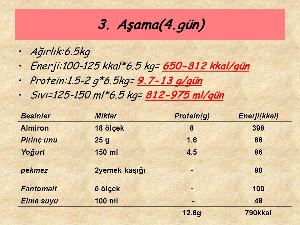 3. Aşama(4.gün) Ağırlık:6.5kg