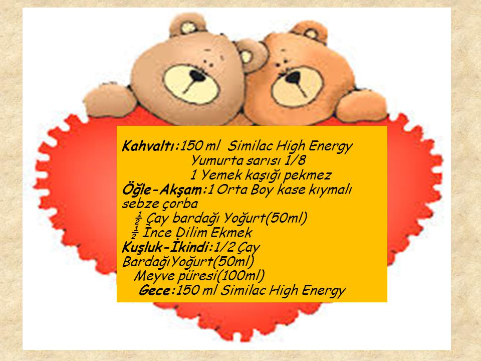 Kahvaltı:150 ml Similac High Energy