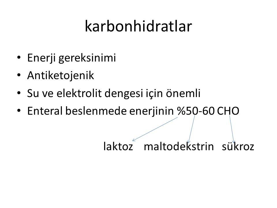 karbonhidratlar Enerji gereksinimi Antiketojenik
