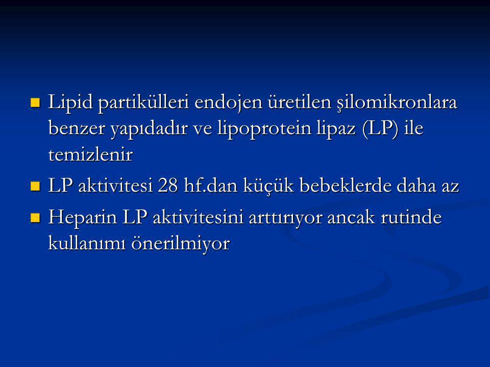 Lipid partikülleri endojen üretilen şilomikronlara benzer yapıdadır ve lipoprotein lipaz (LP) ile temizlenir