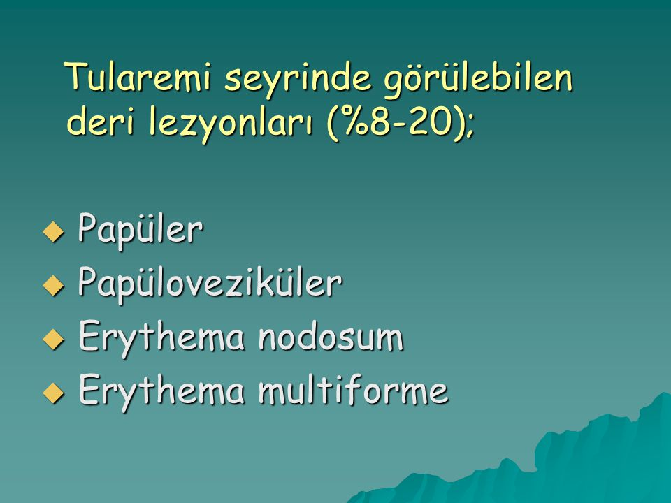 Papüler Papüloveziküler Erythema nodosum Erythema multiforme