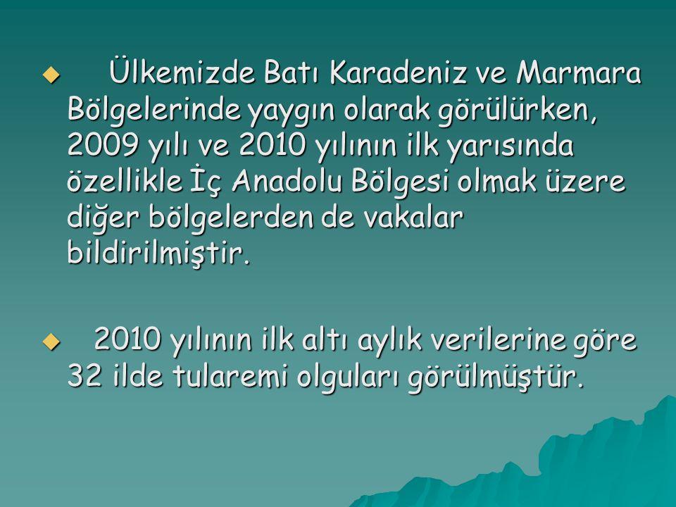 Ülkemizde Batı Karadeniz ve Marmara Bölgelerinde yaygın olarak görülürken, 2009 yılı ve 2010 yılının ilk yarısında özellikle İç Anadolu Bölgesi olmak üzere diğer bölgelerden de vakalar bildirilmiştir.