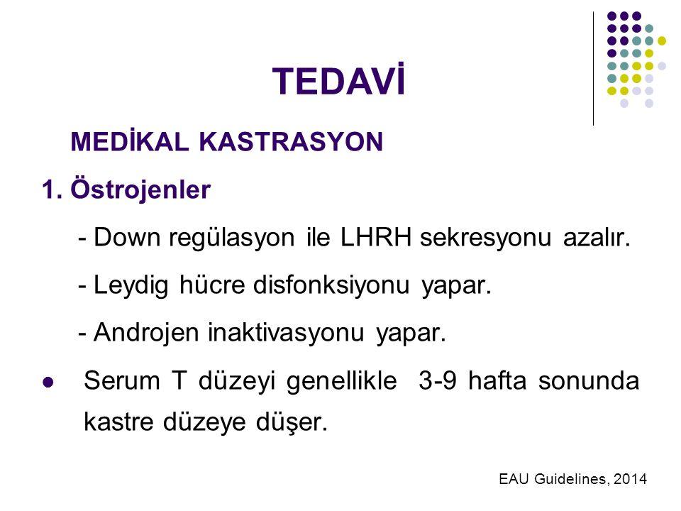 TEDAVİ MEDİKAL KASTRASYON 1. Östrojenler