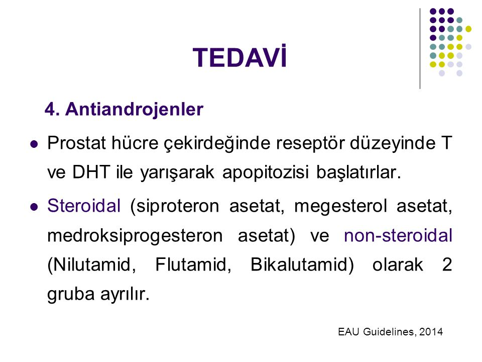TEDAVİ 4. Antiandrojenler
