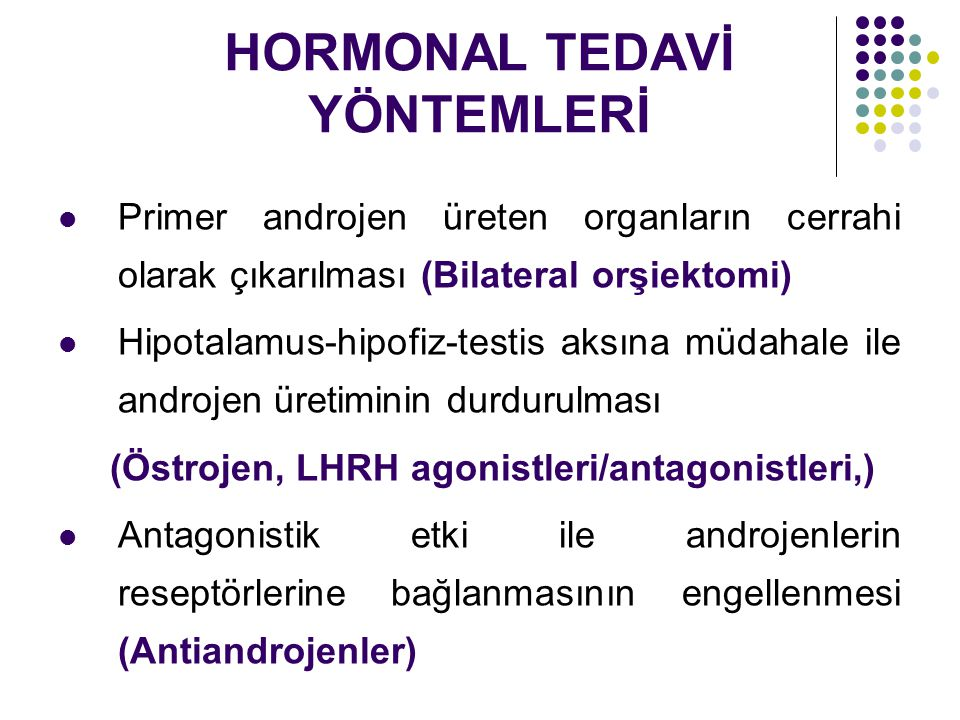 HORMONAL TEDAVİ YÖNTEMLERİ
