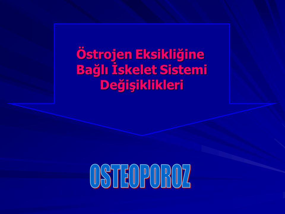 Östrojen Eksikliğine Bağlı İskelet Sistemi Değişiklikleri OSTEOPOROZ
