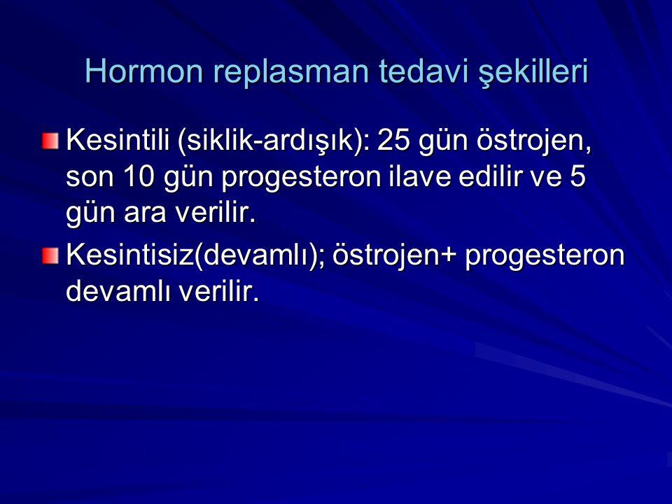 Hormon replasman tedavi şekilleri