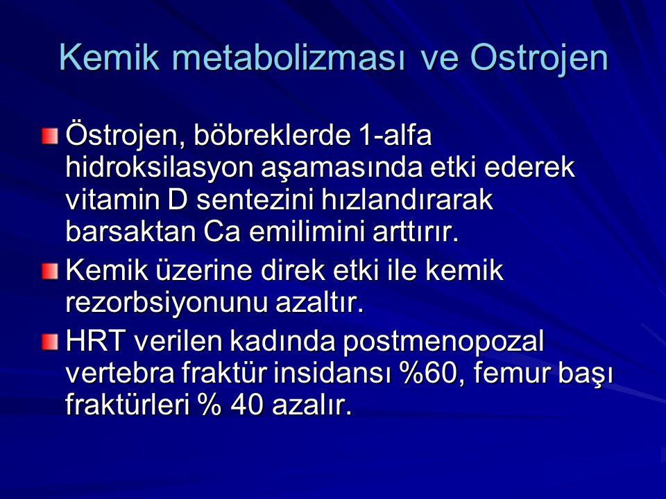 Kemik metabolizması ve Ostrojen