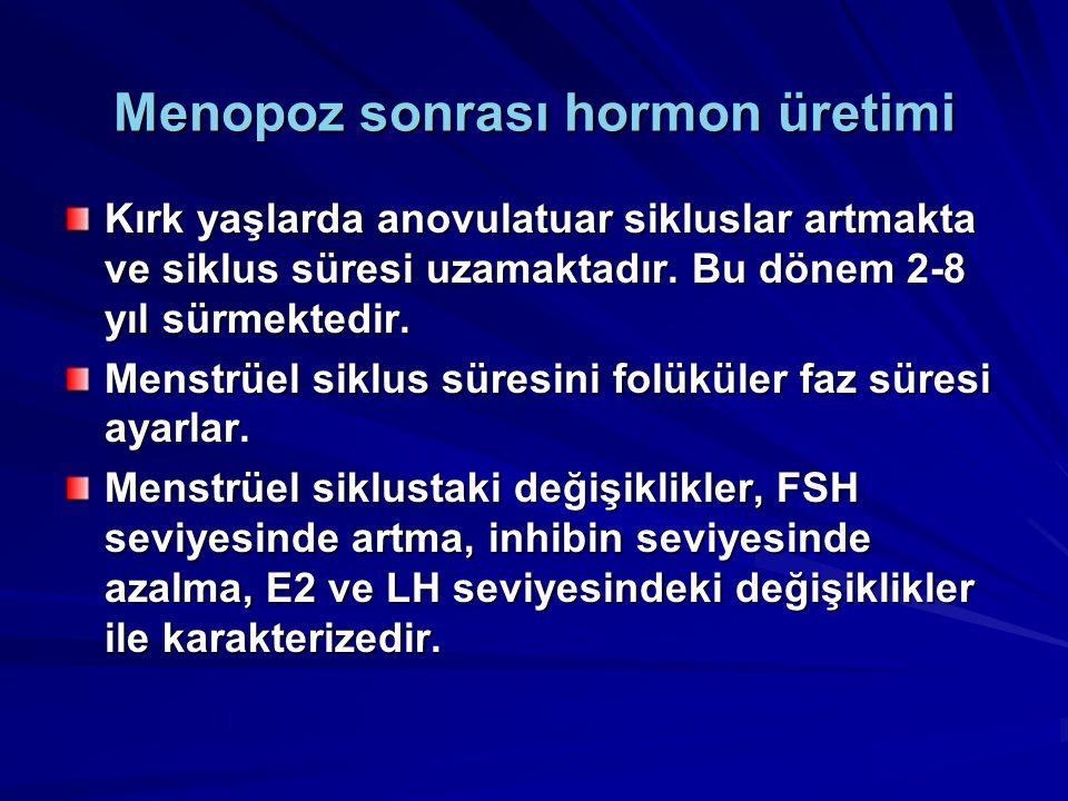 Menopoz sonrası hormon üretimi