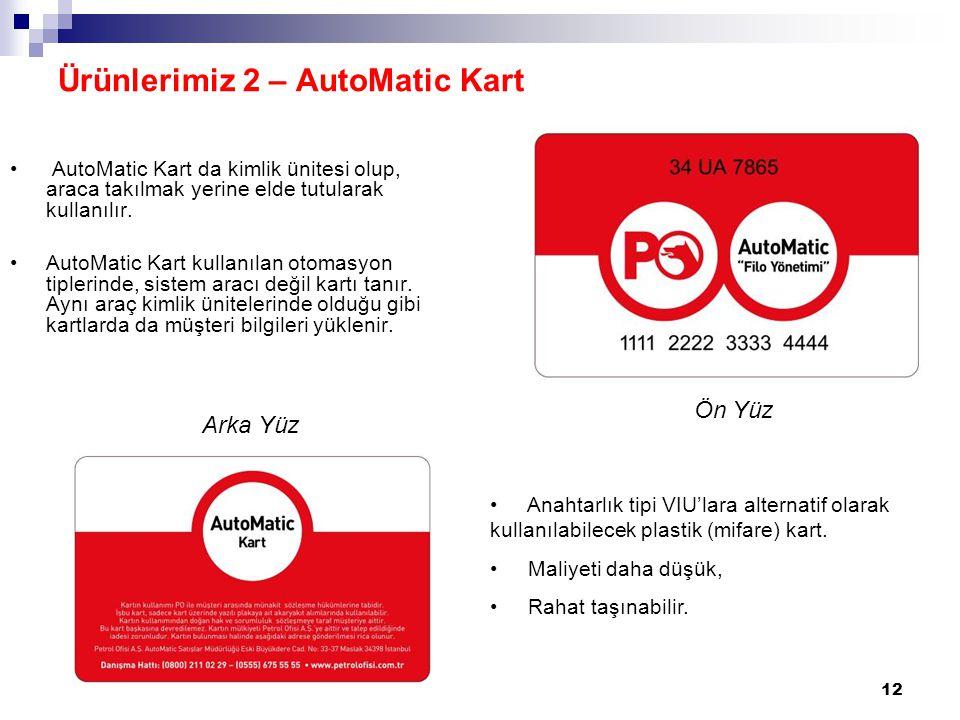 Ürünlerimiz 2 – AutoMatic Kart