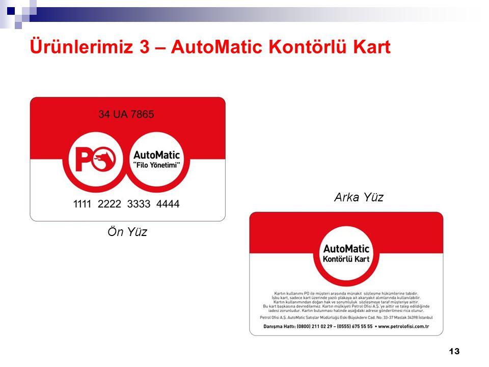 Ürünlerimiz 3 – AutoMatic Kontörlü Kart