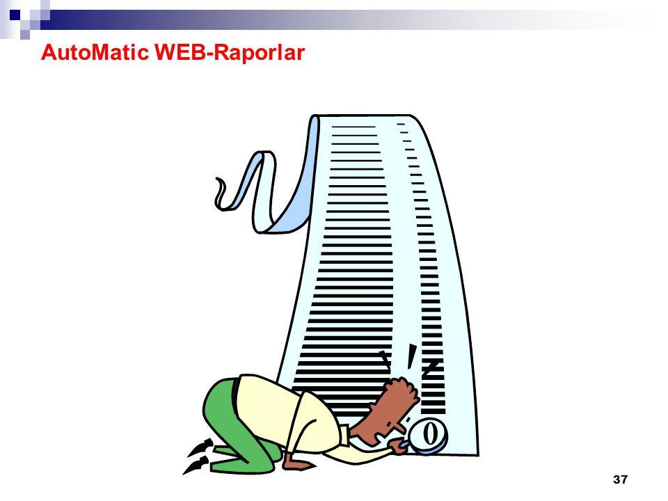 AutoMatic WEB-Raporlar