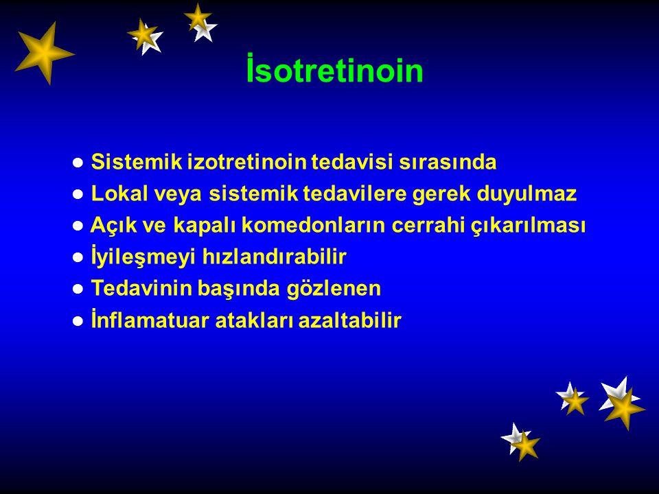 İsotretinoin Sistemik izotretinoin tedavisi sırasında