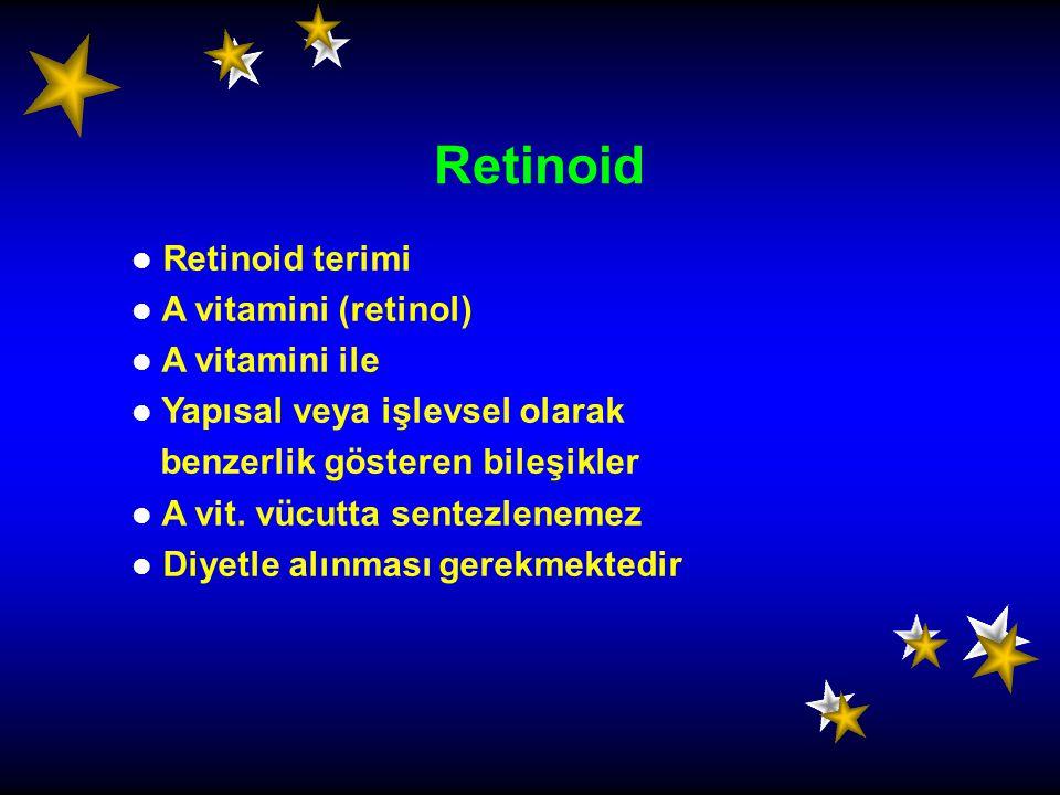 Retinoid Retinoid terimi A vitamini (retinol) A vitamini ile