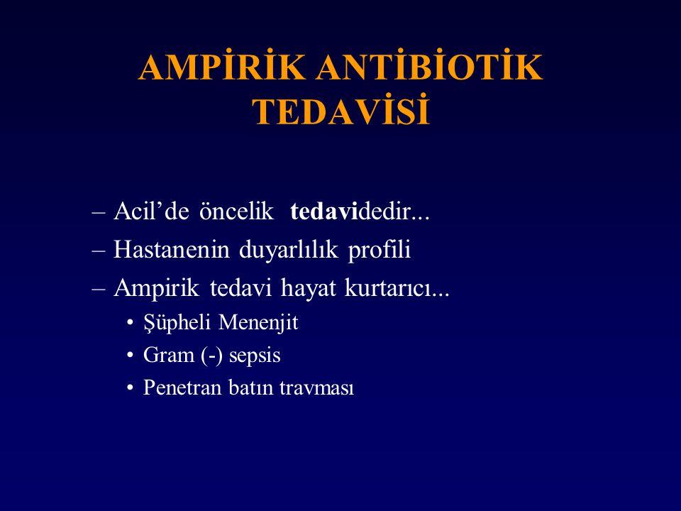 AMPİRİK ANTİBİOTİK TEDAVİSİ