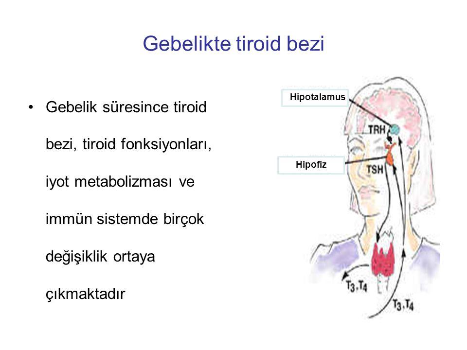 Gebelikte tiroid bezi Hipotalamus. Hipofiz.