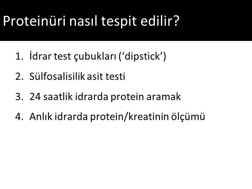 Proteinüri nasıl tespit edilir