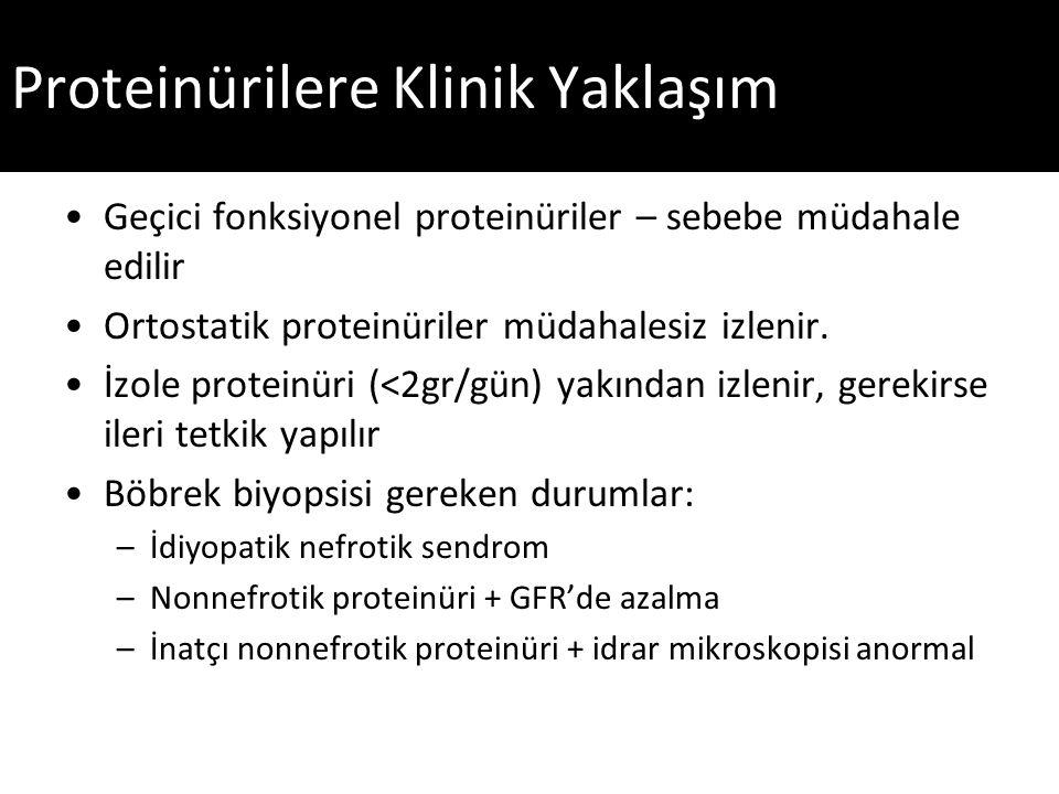 Proteinürilere Klinik Yaklaşım