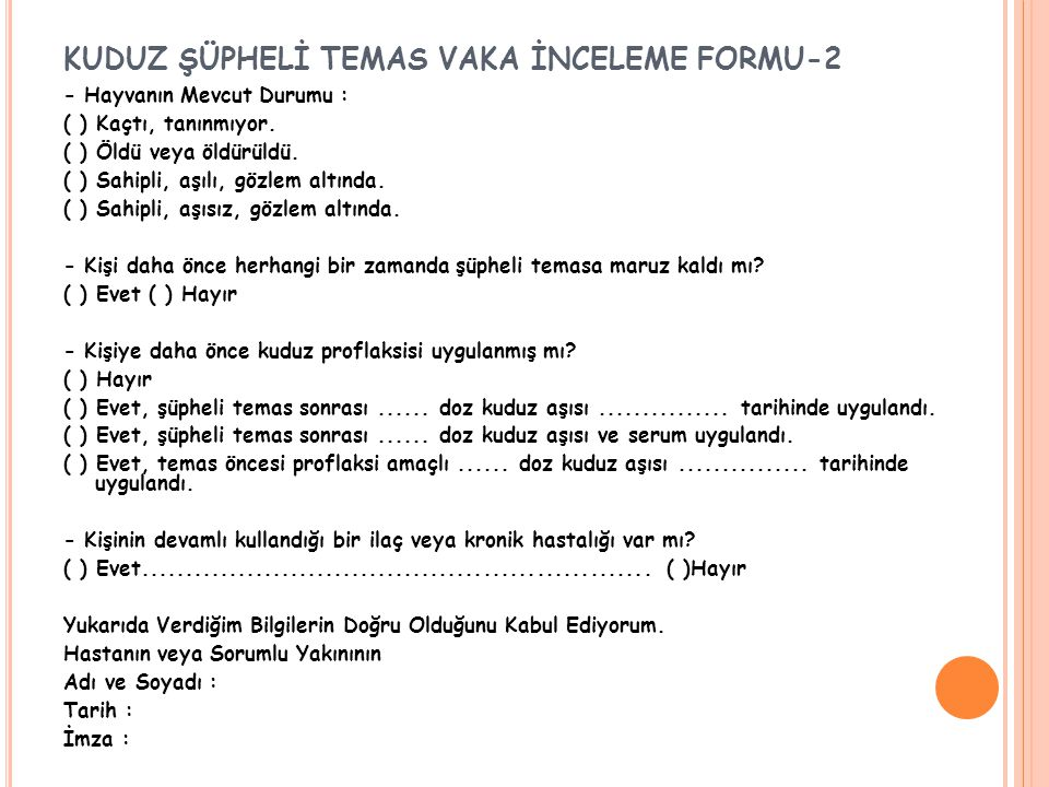 KUDUZ ŞÜPHELİ TEMAS VAKA İNCELEME FORMU-2