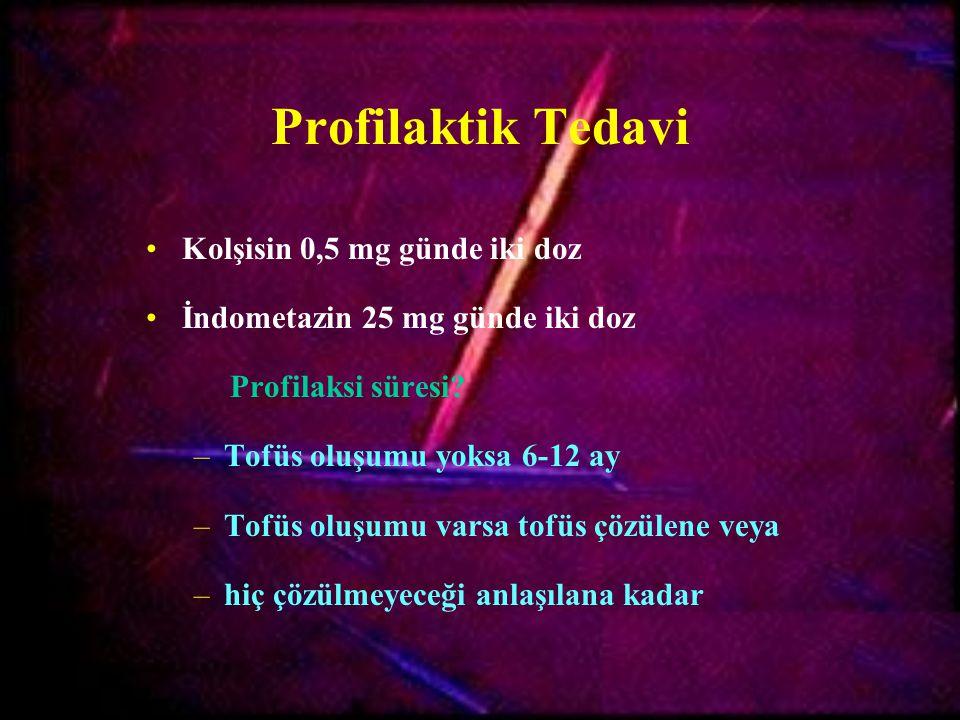 Profilaktik Tedavi Kolşisin 0,5 mg günde iki doz