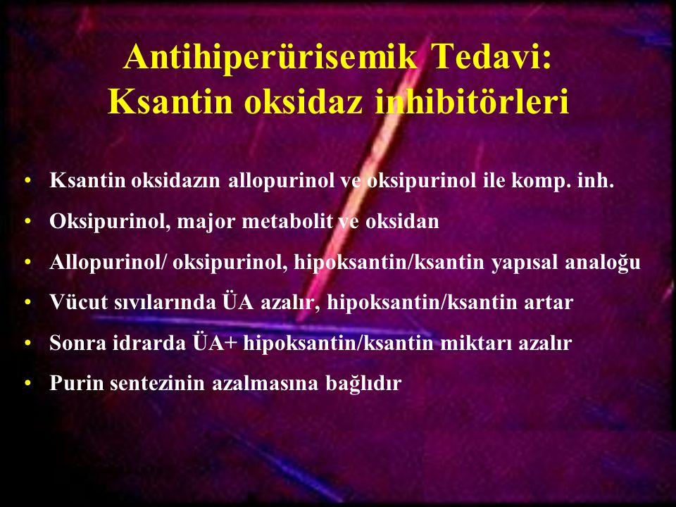 Antihiperürisemik Tedavi: Ksantin oksidaz inhibitörleri