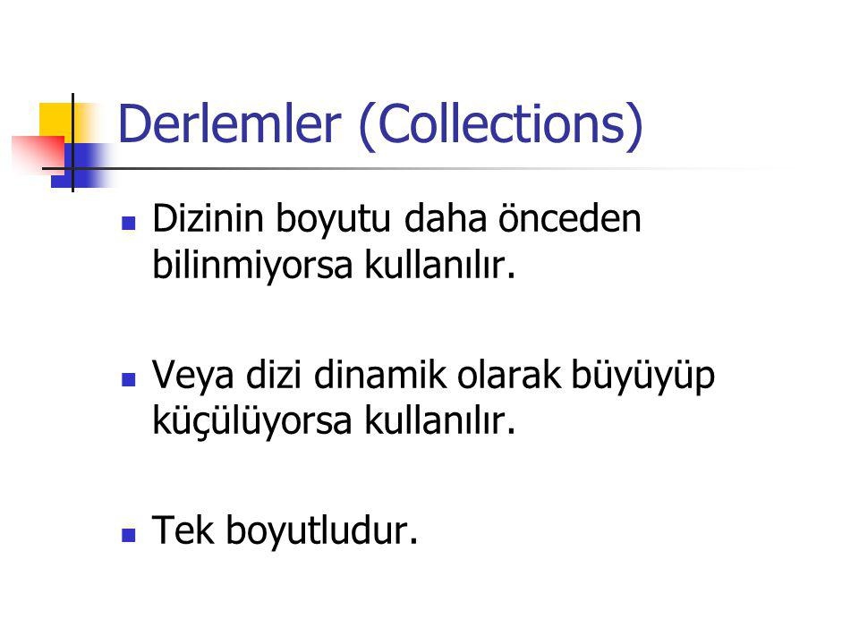 Derlemler (Collections)