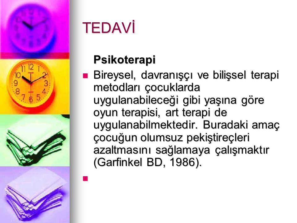 TEDAVİ Psikoterapi.