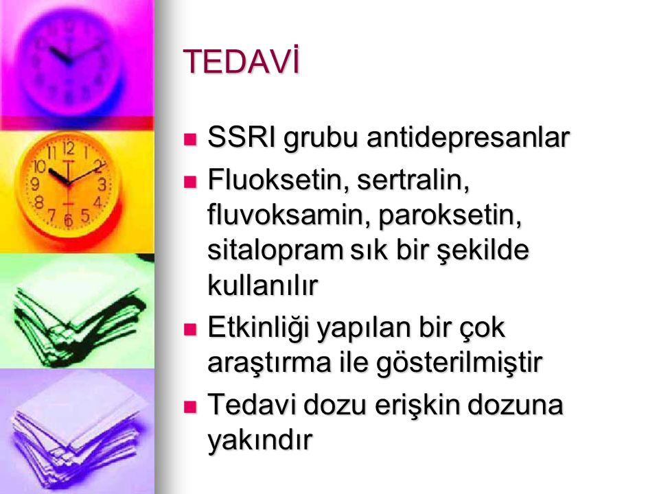 TEDAVİ SSRI grubu antidepresanlar