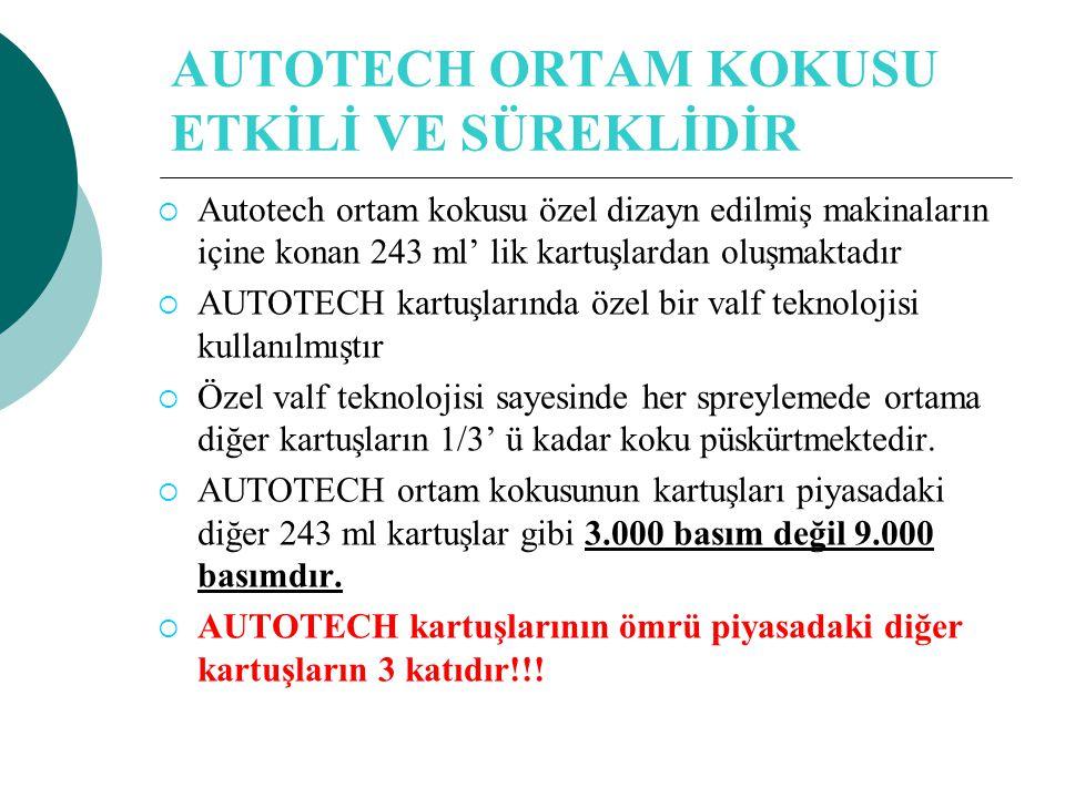 AUTOTECH ORTAM KOKUSU ETKİLİ VE SÜREKLİDİR