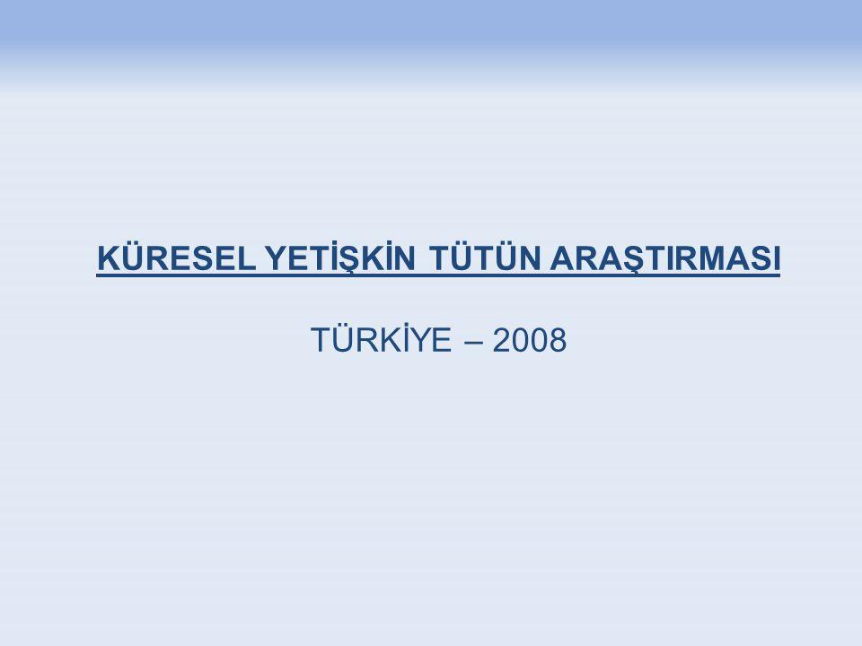 KÜRESEL YETİŞKİN TÜTÜN ARAŞTIRMASI TÜRKİYE – 2008