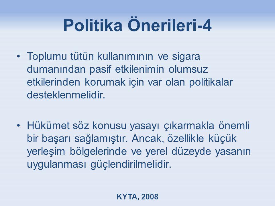 Politika Önerileri-4