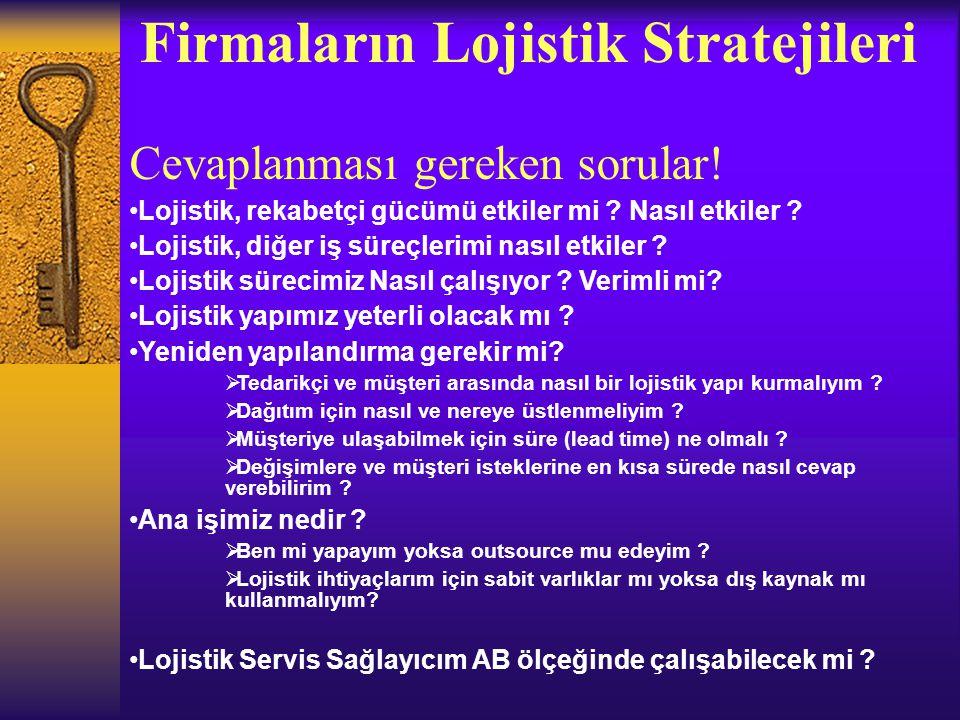 Firmaların Lojistik Stratejileri