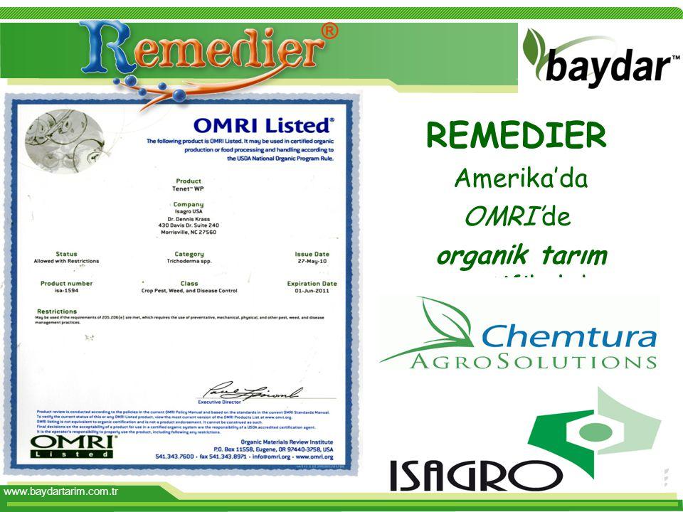 organik tarım sertifikalıdır