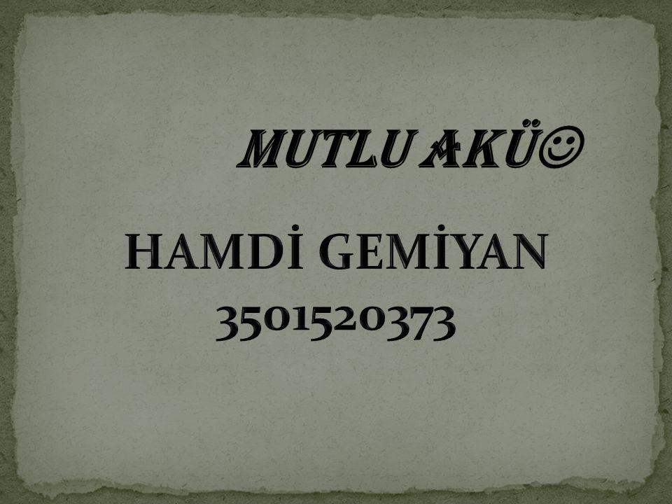 MUTLU AKÜ HAMDİ GEMİYAN 3501520373