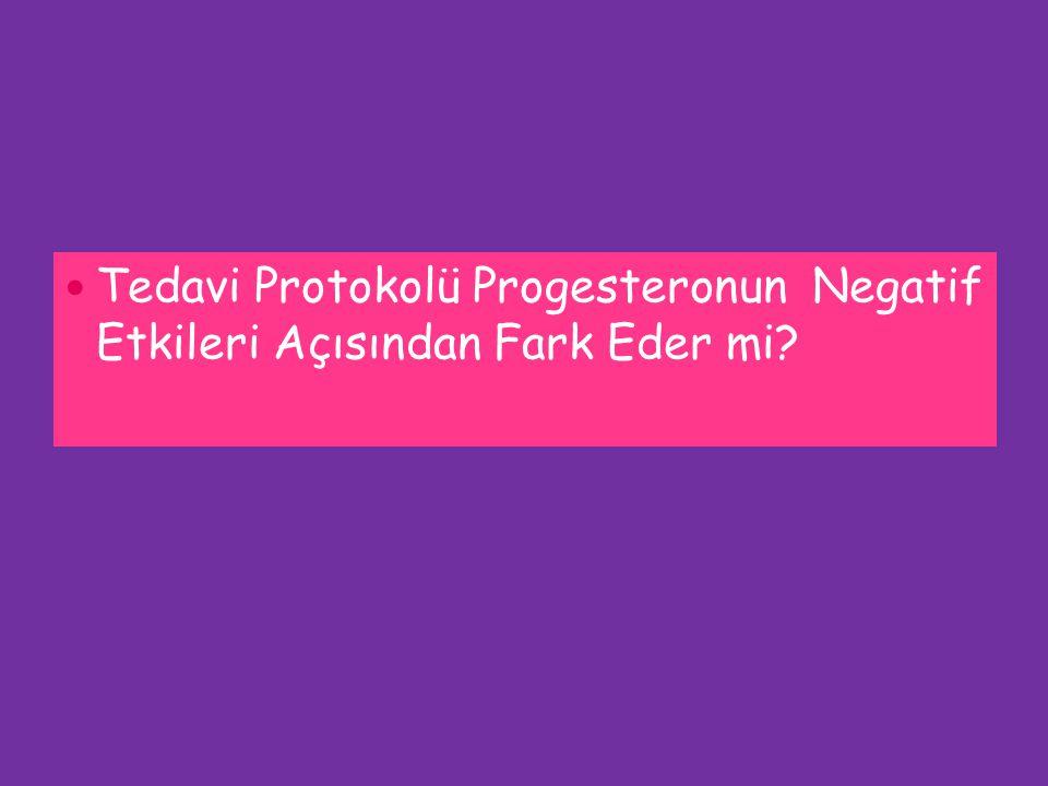 Tedavi Protokolü Progesteronun Negatif Etkileri Açısından Fark Eder mi