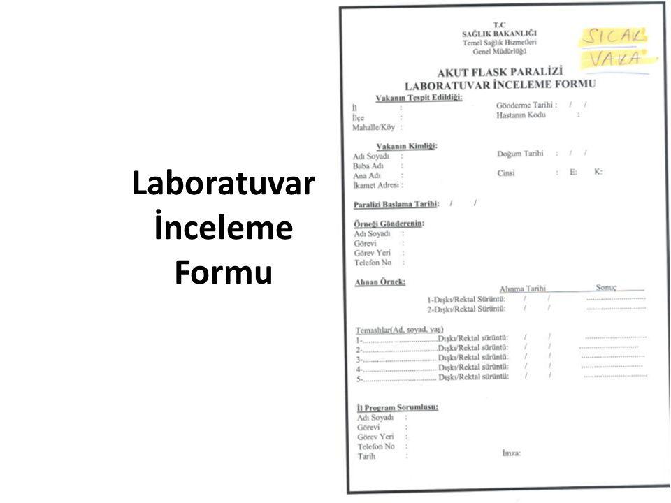 Laboratuvar İnceleme Formu