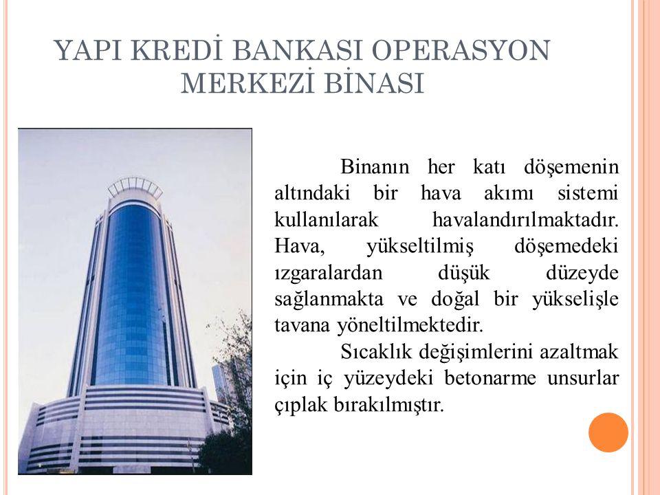 YAPI KREDİ BANKASI OPERASYON MERKEZİ BİNASI
