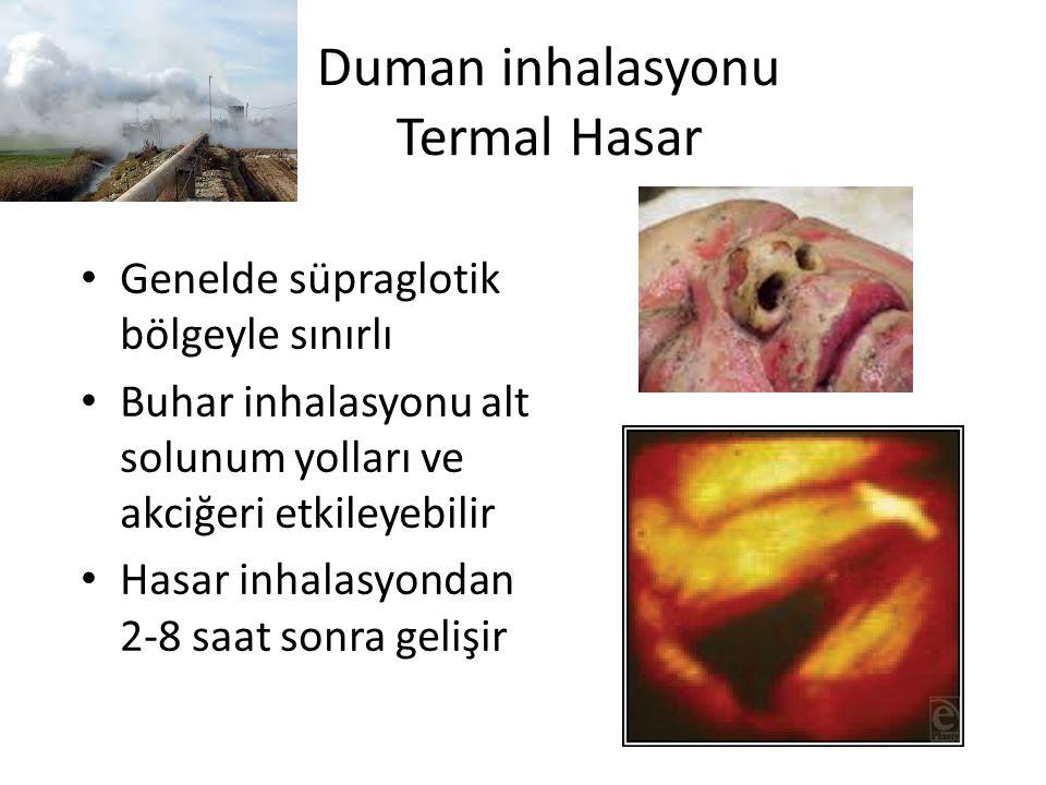 Duman inhalasyonu Termal Hasar