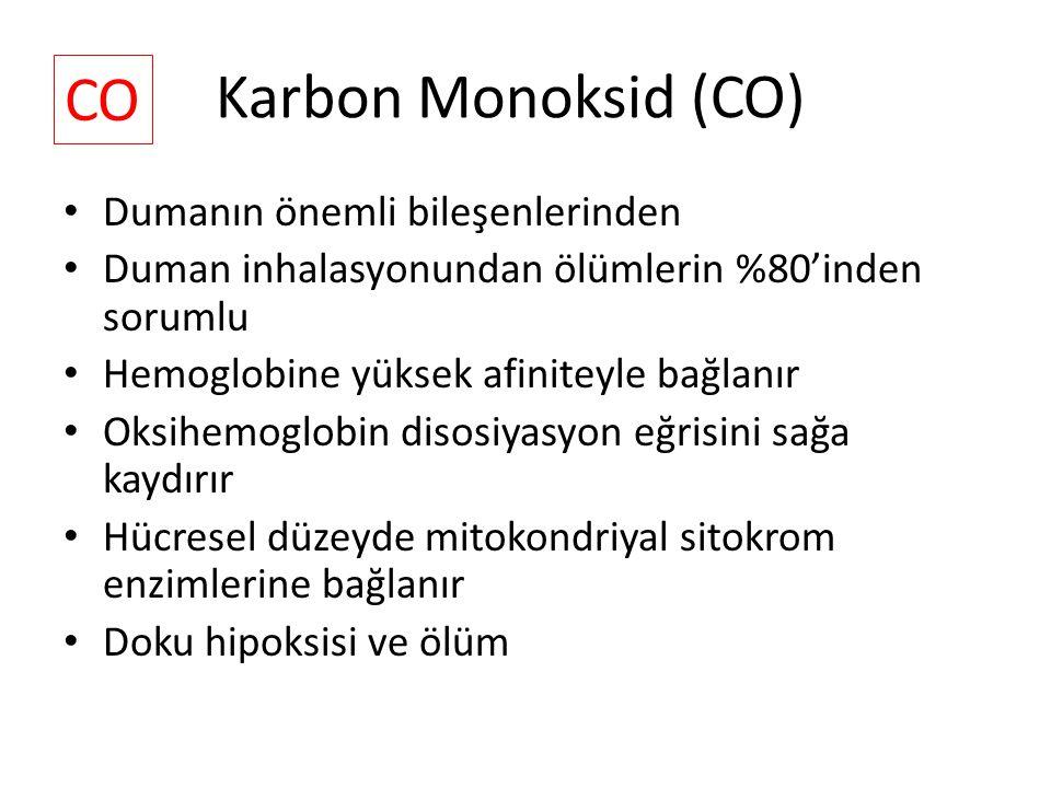 Karbon Monoksid (CO) CO Dumanın önemli bileşenlerinden