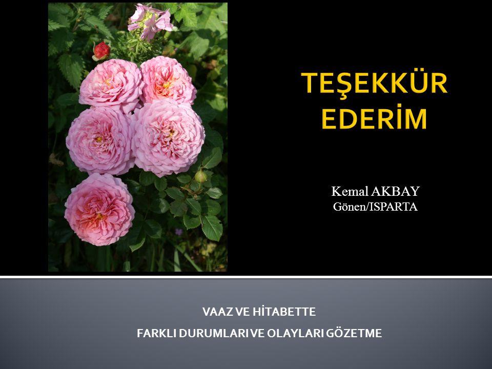 Kemal AKBAY Gönen/ISPARTA
