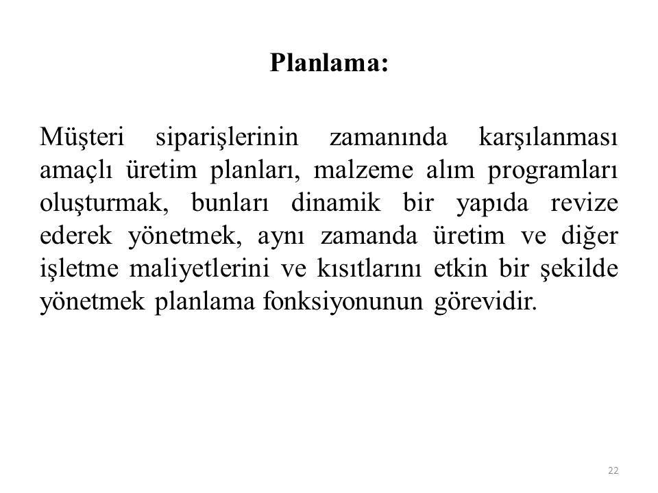Planlama: