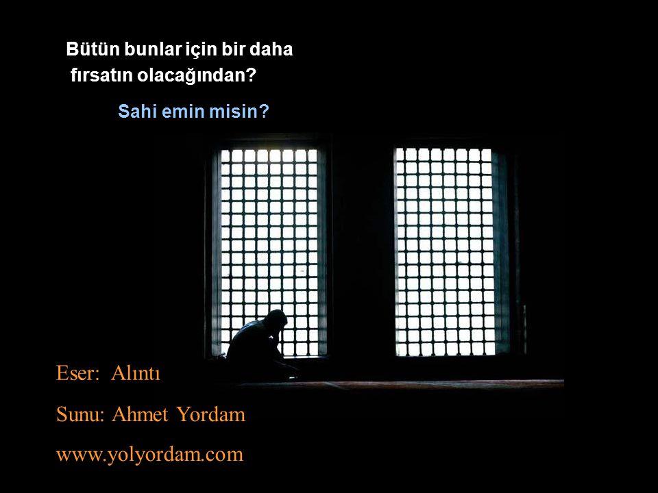 Eser: Alıntı Sunu: Ahmet Yordam www.yolyordam.com